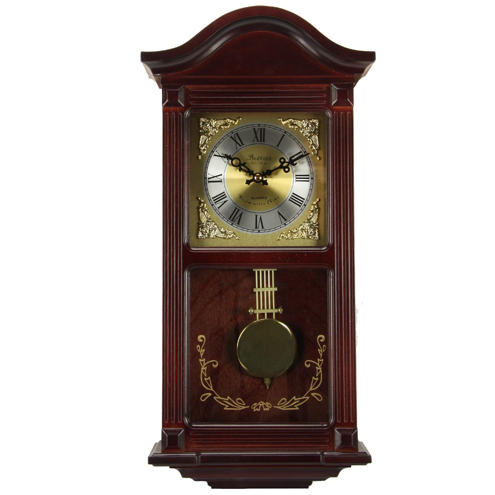 Bedford Colección reloj de madera de cerezo caoba 22\